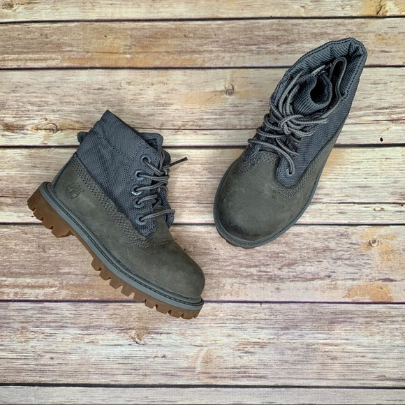 Timberland Boys Kids Boots Suede And Mesh Size 7.5